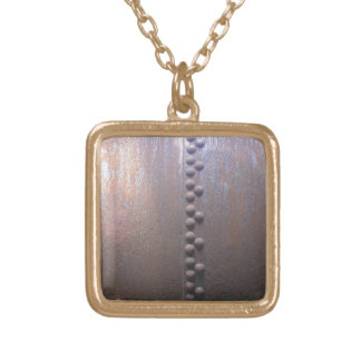 Steampunk Steel-plated Metal-look Gift Gold Plated Necklace