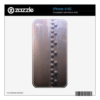 Steampunk Steel-plated Metal-look Gift iPhone 4 Decal