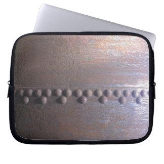 Steampunk Steel-plated Metal-look Gift Laptop Sleeve