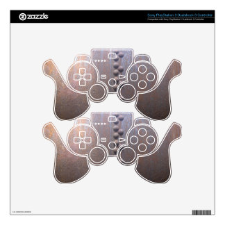 Steampunk Steel-plated Metal-look Gift Skin For PS3 Controller