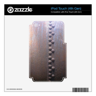 Steampunk Steel-plated Metal-look Gift Skins For iPod Touch 4G