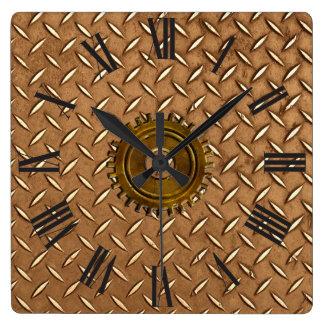 Steampunk Steel-plated Metal-look Wall Clock