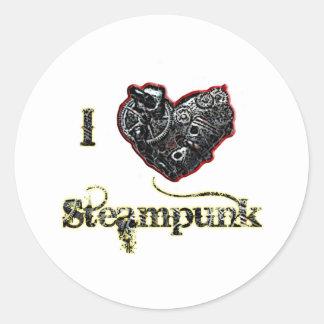 Steampunk Classic Round Sticker
