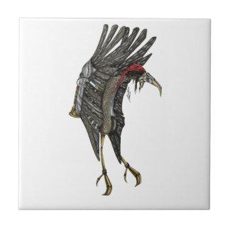 Steampunk Stork Ceramic Tile