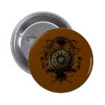 Steampunk stud art design pins