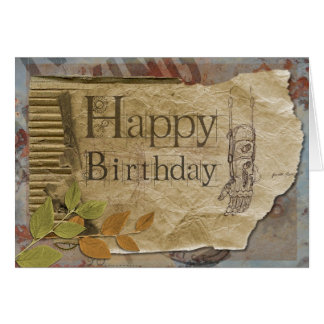 Steampunk style Birthday Greeting Card
