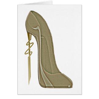 Steampunk Style Stiletto Shoe Art Card