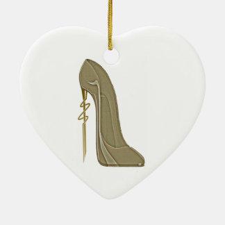 Steampunk Style Stiletto Shoe Art Ceramic Ornament
