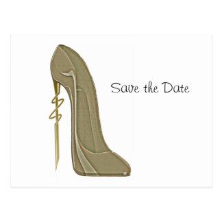 Steampunk Style stiletto shoe art Postcard