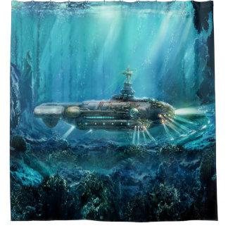 Steampunk Submarine Shower Curtain