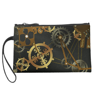 Steampunk Sueded Mini Clutch