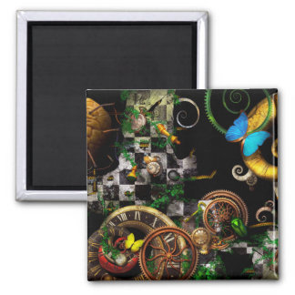 Steampunk - Surreal - Mind games Fridge Magnets