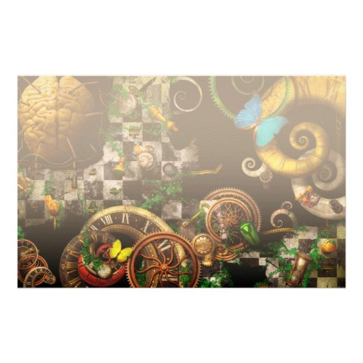 Steampunk - Surreal - Mind games Stationery Design