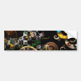 Steampunk - surrealista - juegos de mente pegatina para auto