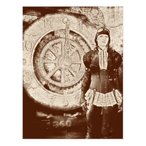 Steampunk Sylvia Tarjetas Postales