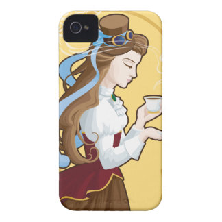 Steampunk Tea Time iPhone 4 Cover