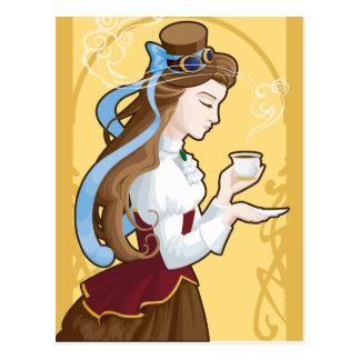Steampunk Tea Time Postcard