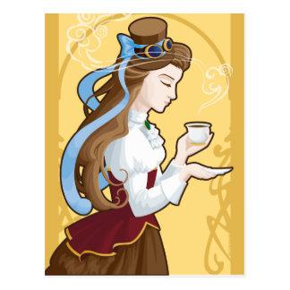 Steampunk Tea Time Postcard