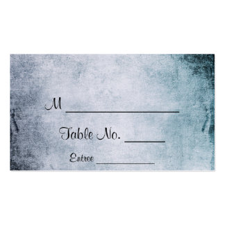 Steampunk Teal Heart Wedding Place Cards