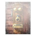 Steampunk - teléfono Phace Invitación 10,8 X 13,9 Cm