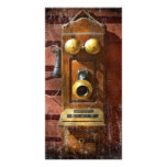Steampunk - teléfono Phace Plantilla Para Tarjeta De Foto