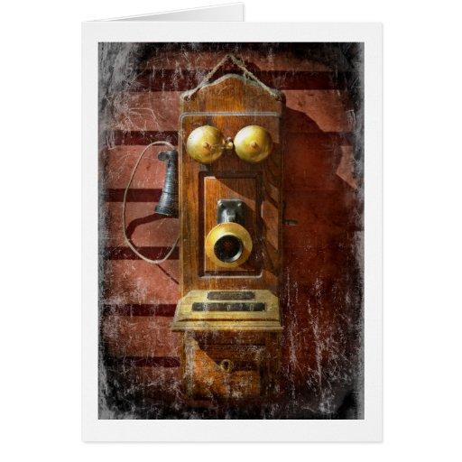 Steampunk - teléfono Phace Tarjeta De Felicitación
