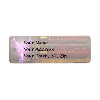Steampunk - Temporal Flux Return Address Label
