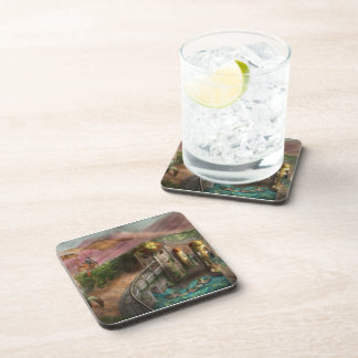 Steampunk - The age of invention Beverage Coaster