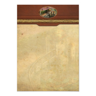 """Steampunk - The age of invention 5"""" X 7"""" Invitation Card"""