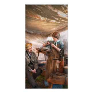 Steampunk - The Apprentice Photo Card Template