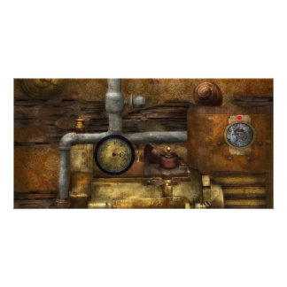 Steampunk - The device Photo Greeting Card
