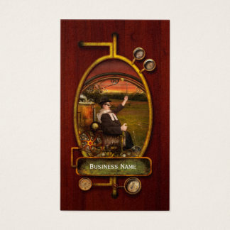 Steampunk - The gentleman's monowheel Business Card