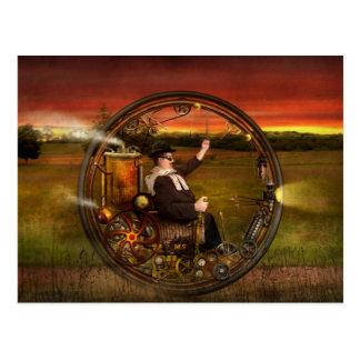 Steampunk - The gentleman's monowheel Postcard