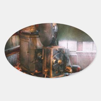 Steampunk - The Golden age of Cinema Oval Sticker