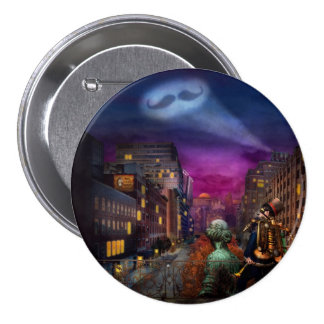 Steampunk - The Great Mustachio Pinback Buttons