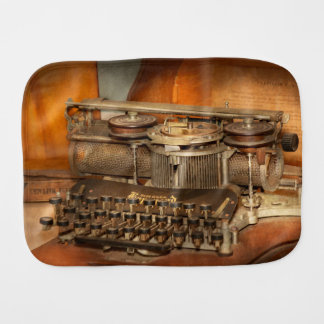 Steampunk - The history of typing Baby Burp Cloth
