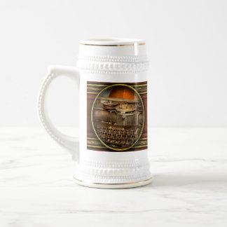 Steampunk - The history of typing Beer Stein