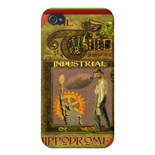 SteamPunk ~ The Industrial Hippodrome Case For iPhone 4