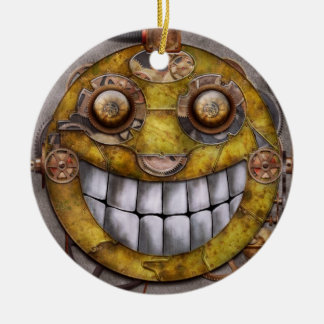 Steampunk - The joy of technology Double-Sided Ceramic Round Christmas Ornament