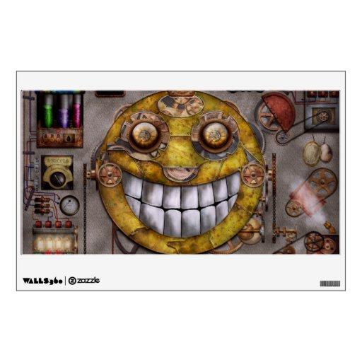 Steampunk - The joy of technology Room Decals