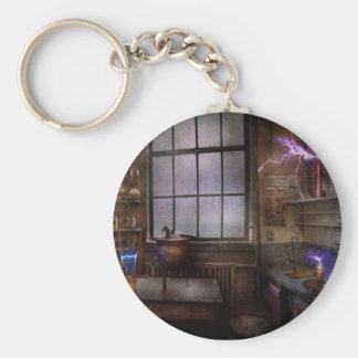 Steampunk - The Mad Scientist Basic Round Button Keychain