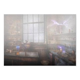 Steampunk - The Mad Scientist 5x7 Paper Invitation Card