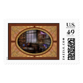 Steampunk - The Mad Scientist Postage Stamps