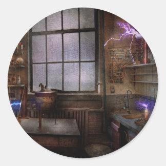 Steampunk - The Mad Scientist Classic Round Sticker