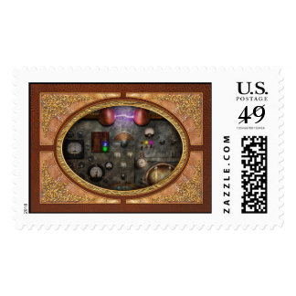 Steampunk - The Modulator Postage Stamp