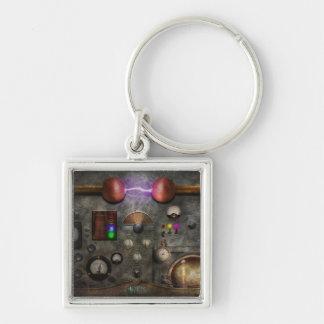Steampunk - The Modulator Silver-Colored Square Keychain