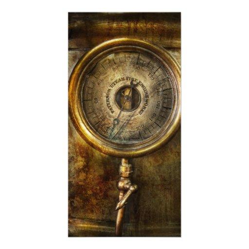 Steampunk - The pressure gauge Photo Card Template