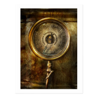 Steampunk - The pressure gauge Postcard