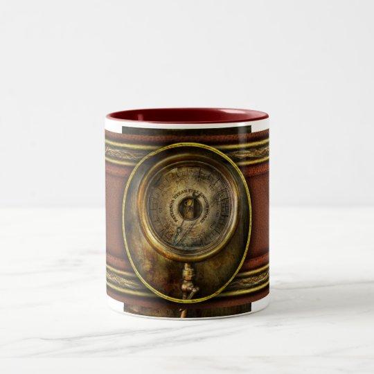 Steampunk - The pressure gauge Two-Tone Coffee Mug