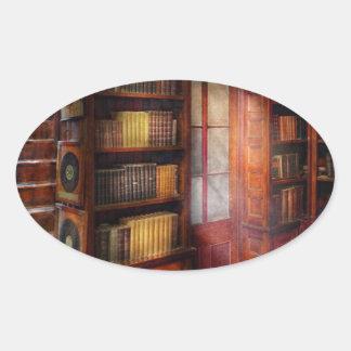Steampunk - The semi-private study Oval Sticker